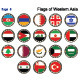 Flags of Western Asia - GraphicRiver Item for Sale