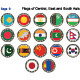 Flags of Central, East and South Asia - GraphicRiver Item for Sale