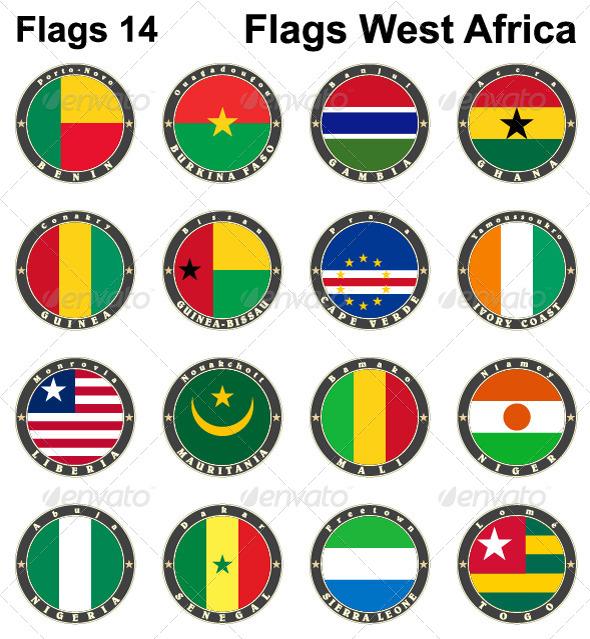 World Flags Western Africa