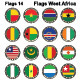 World Flags Western Africa - GraphicRiver Item for Sale