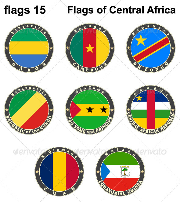 World Flags Central Africa
