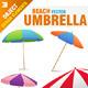 Beach Parasol Set - GraphicRiver Item for Sale