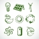 Green Energy Sketch Icons