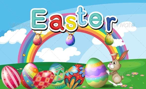 Easter Rainbow Background