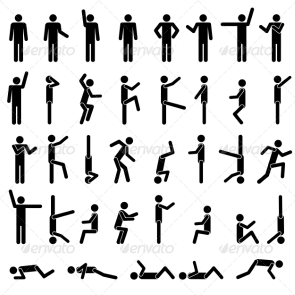 People in Different Poses Icon