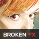 Modern Broken Mirror Effect Photo Template - GraphicRiver Item for Sale