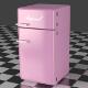 Fridge Freezer Combi pink