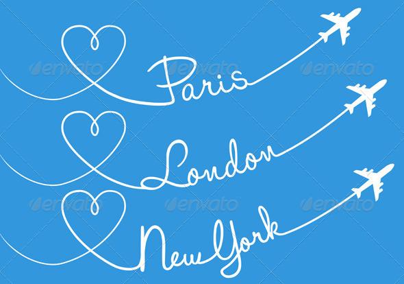 Flying to Paris, London or New York Set
