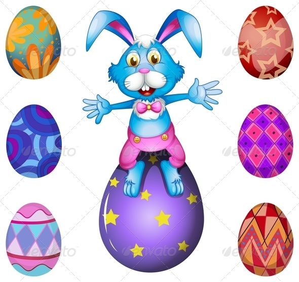 A Bunny Above the Easter Egg