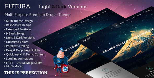 Futura, MultiPurpose Creative Drupal Theme