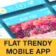 Flat Trendy Mobile App - GraphicRiver Item for Sale