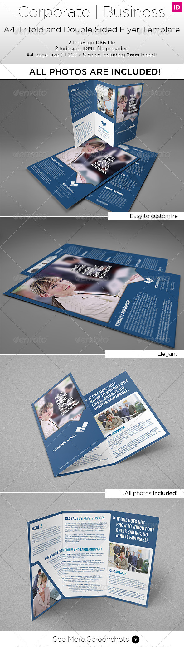 Double Sided Flyer Graphics Designs