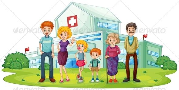 Family Near Hospital