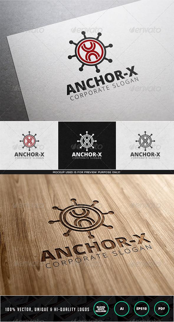 Anchor X Logo Template