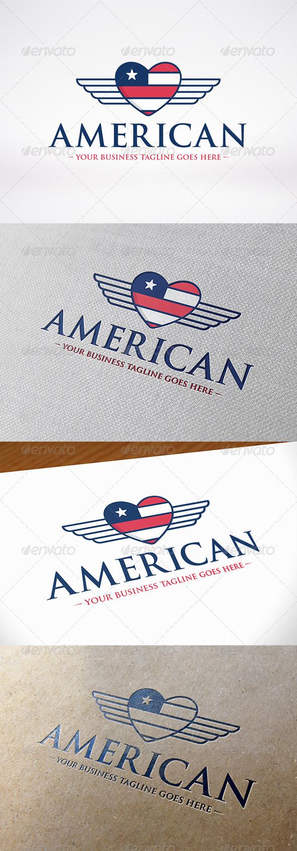American Love Logo Template