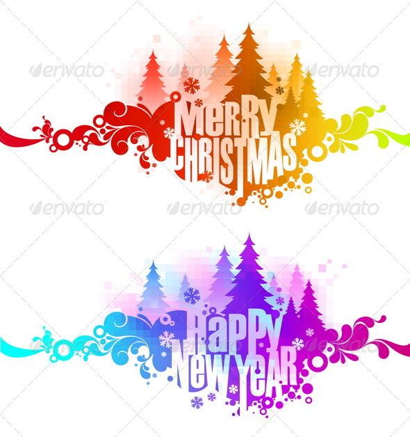 Christmas Ornate Colorful Greetings