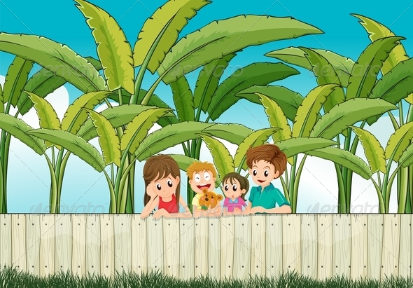 Family at a Fence