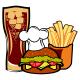 Fast Food illustration - GraphicRiver Item for Sale