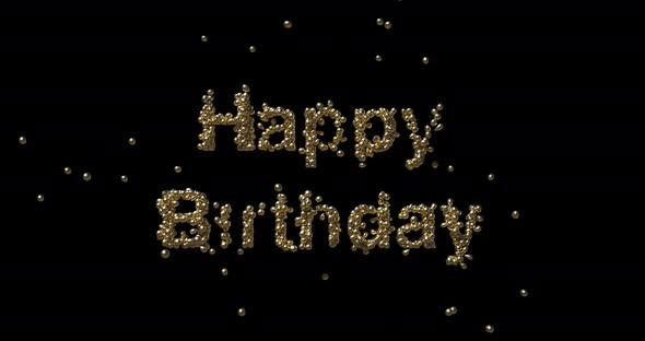 Happy Birthday - Text Animation