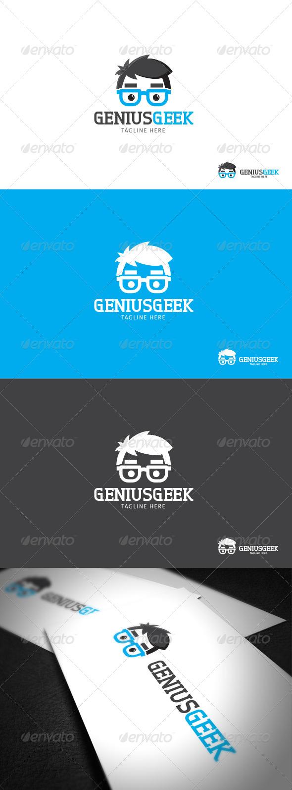 Genius Geek logo Template