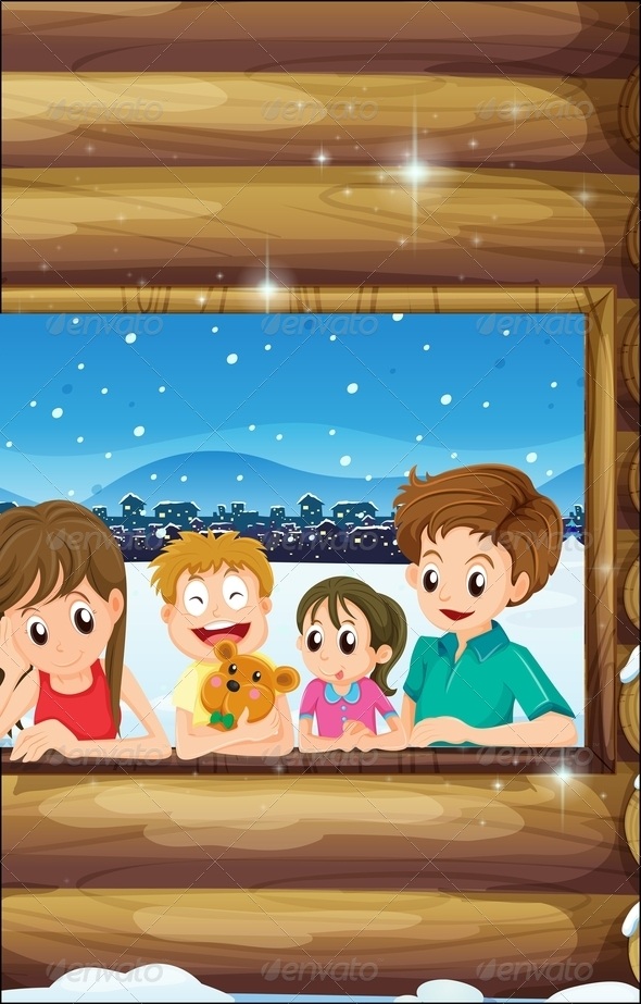 Family at Window