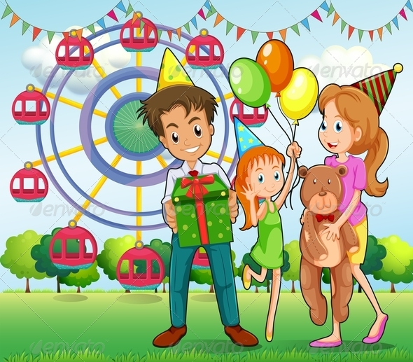Family at Carnival