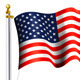 American Flag Waving on Flag Pole - GraphicRiver Item for Sale