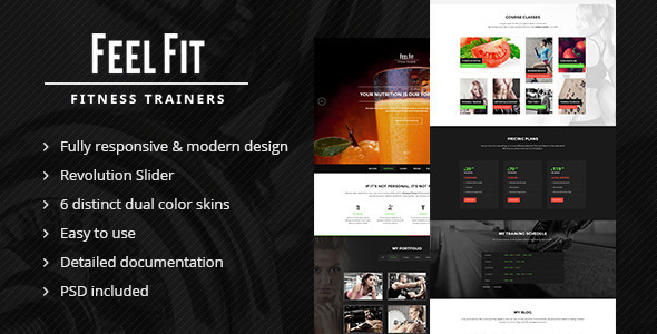 Personal Trainer - One Page HTML5 Template