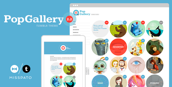 Pop Gallery Tumblr Theme
