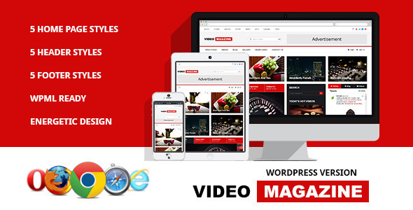 Video Magazine - WordPress Magazine Theme