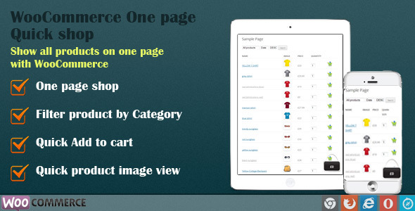 WooCommerce Quick Order One Page Shop Download