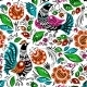 Folk Painting Seamless - GraphicRiver Item for Sale