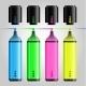 Multicolored Felt Pen or Highlighter Set - GraphicRiver Item for Sale