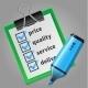 Blue Felt Tip Pen and Green Checklist - GraphicRiver Item for Sale
