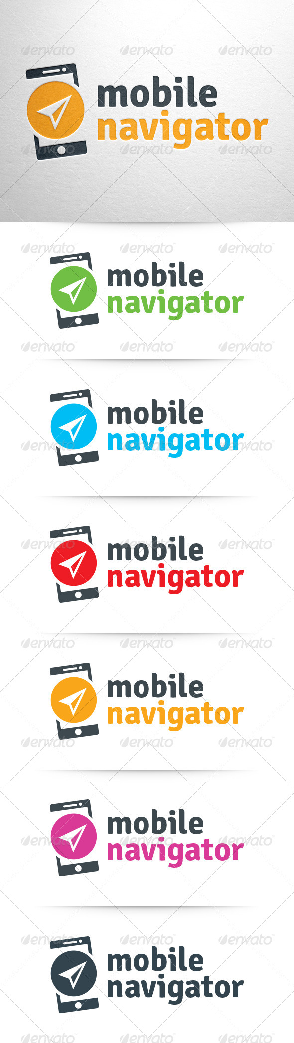 Mobile Navigator Logo Template