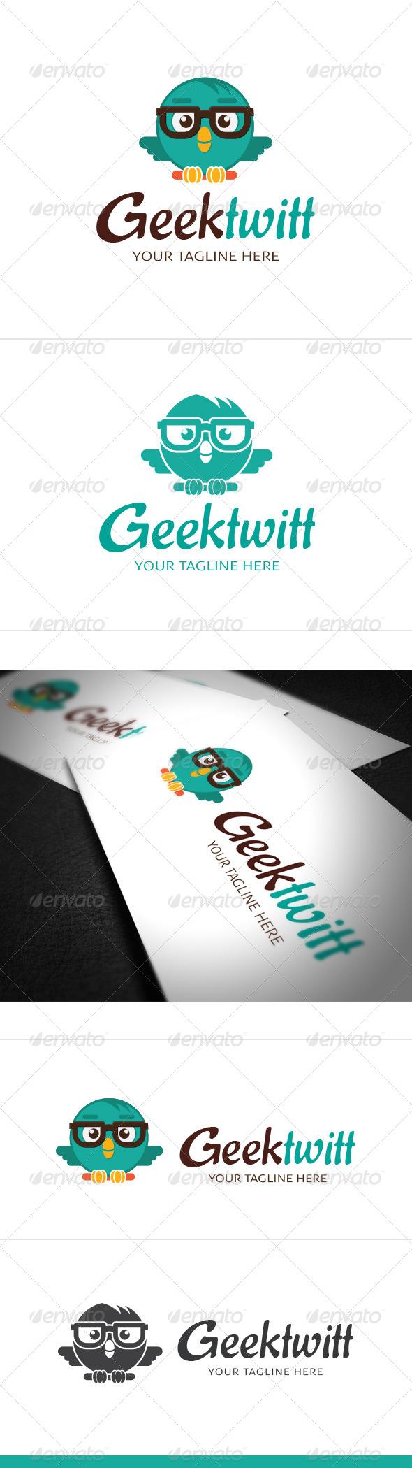 Geek Twitt Logo Template