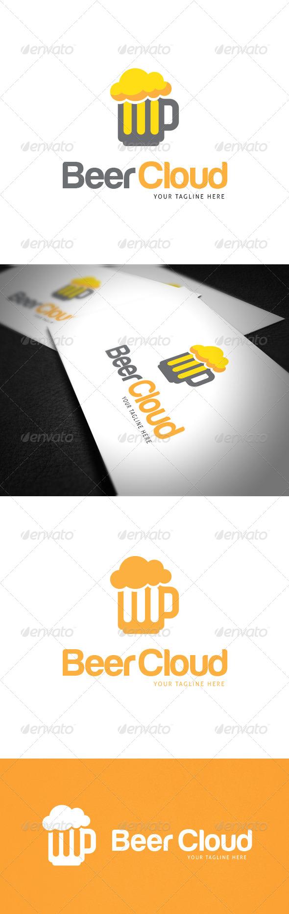 Beer Cloud Logo Template