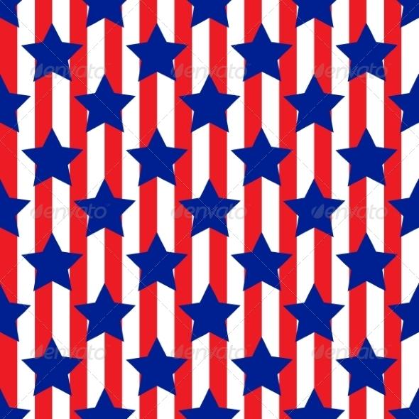 Patriotic USA Seamless Pattern