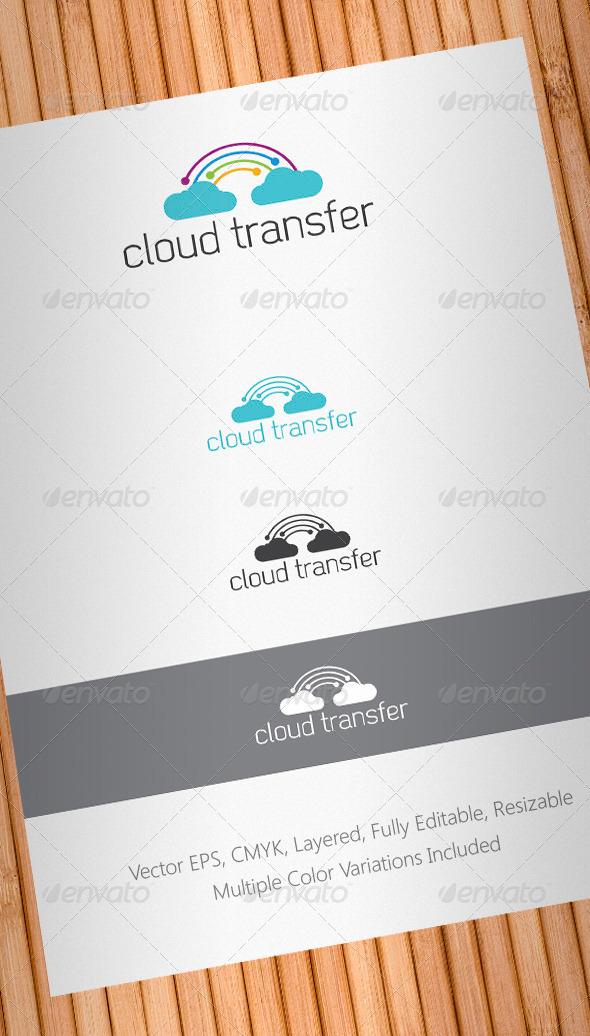Cloud Transfer Logo Template