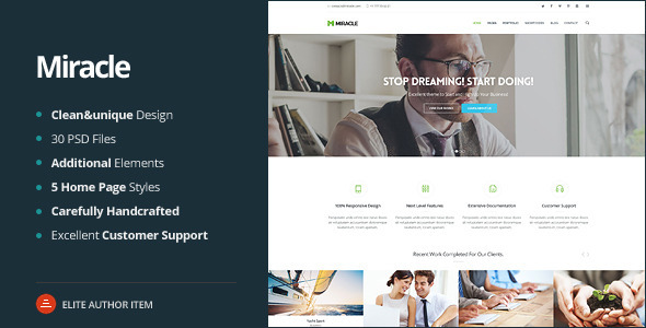 Miracle -  Multi-Purpose PSD Template