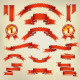 Vector Red Ribbons and Labels - GraphicRiver Item for Sale