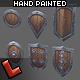 'Militia' shields set - 3DOcean Item for Sale