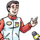 Interview with Racer - GraphicRiver Item for Sale