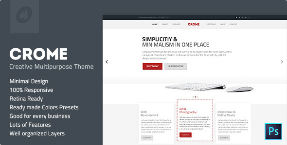 Crome - Creative Multipurpose Template