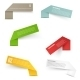 Set of Blank Rectangle Labels. Acute Corners - GraphicRiver Item for Sale