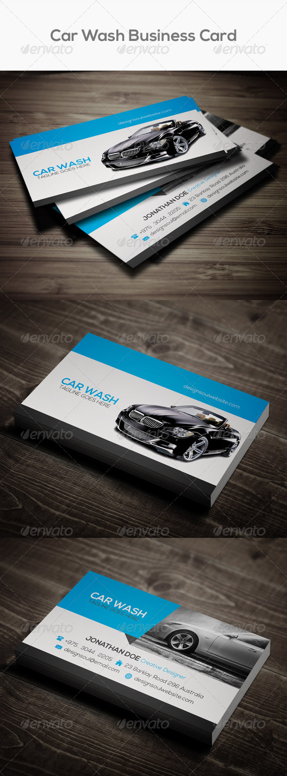 Car Wash Business Card Graphics Designs Templates