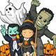 Happy Halloween Characters - GraphicRiver Item for Sale