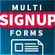 Flat Multi Step Signup Form - GraphicRiver Item for Sale