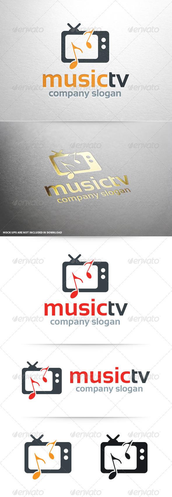 Music TV Logo Template