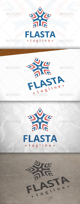 Flag Star Logo
